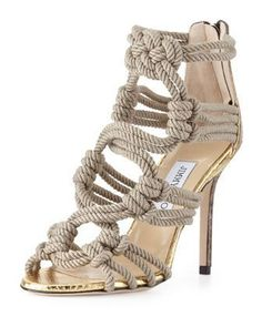 63b574765f2 Jimmy Choo rope sandals - Fashion Jot- Latest Trends of Fashion Open Toe  Sandals