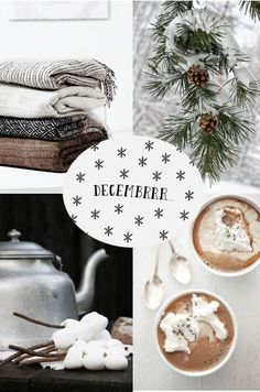 All things cozy and simple. Christmas Mood, Xmas, Hello December, Beautiful Collage, Winter Love, Winter Magic, Winter Photos, Merry And Bright, Web Design