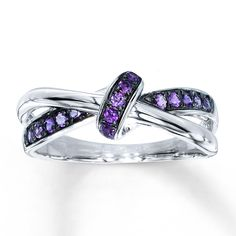 PURPLE AMETHYST RING STERLING SILVER WOULD BE GORGEOUS WITH SAPPHIRES AND EMERALDS TOO