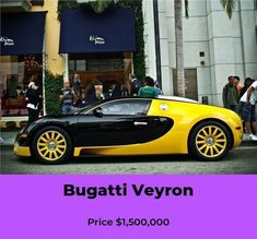 Outrageous is the only way to describe the Bugatti Veyron. The fastest production car in the world with a top speed of Bugatti Veyron Price, Bugatti Veyron Interior, Car In The World, Car Ins, Hot Cars, Super Cars, Vroom Vroom, Badass, Illustration