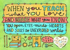 Teach What You Love 8x10 doodle print by artsyville on Etsy, $16.00