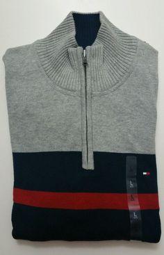 Tommy Hilfiger Men's Half Zip Sweater Large NWT #TommyHilfiger #12Zip
