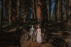 Sequoia National Park Elopement - Helena and Laurent Photography  The perfect wedding in my opinion! So beautiful.