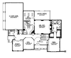 Cabin and Cottage Plan First Floor - 051S-0023 Lake House Plans, House Plans And More, Modern House Plans, House Floor Plans, Floor Plan Sketch, Indoor Balcony, Cottage House Plans, Cottage Ideas, Southern House Plans