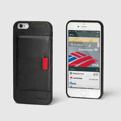 Distil Union Wally Case iPhone Wallet with Pull-Tab in Black Leather