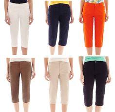 St John's Bay women's capri pants size 4P 6P 16P 8 12 14 16 16W 18W 20W 24W NEW  16.99 http://www.ebay.com/itm/St-Johns-Bay-womens-capri-pants-size-4P-6P-16P-8-12-14-16-16W-18W-20W-24W-NEW-/331726808240?ssPageName=STRK:MESE:IT