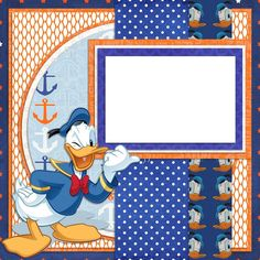 Premade-Double Page-Scrapbook Layouts- Disney Donald Duck - 450
