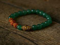 Harmony- Buddha Bracelet, Rudraksha, Yoga Jewelry, Tibetan Jewelry, Chakra Bracelet, Mens Bracelet,Mens Jewelry, Mens Bead Bracelet, Yoga, Men Bracelet by CandiedBohemian, $33.00 @Etsy