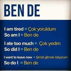English Time, English Study, English Lessons, Learn English, Learn Turkish Language, Learn A New Language, Turkish Lessons, Grammar Tips, English Sentences