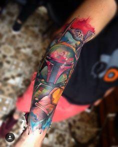 Boba fett #bobafett #tattoo #lincoln