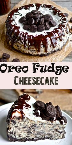 "BEST Oreo Fudge Cheesecake - Recipes Instant You're probably thinking to yourself, ""My goodness. What an incredibly rustic looking cheesecake that is.""Well, that's what twenty dollars . Yummy Treats, Sweet Treats, Yummy Food, Delicious Deserts, Mini Desserts, Just Desserts, Oreo Dessert Recipes, Dessert Ideas, Cinnamon Desserts"
