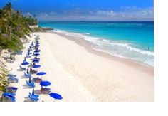 BARBADOS:  Crane Beach is considered one of the top ten beaches in the world. It is located on the South Coast line. Protected by a natural coral reef, provides a perfect location for experienced swimmers, boogie boarders, and surfers.