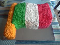 David's Italian flag cake