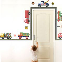 Terrific Trucks Wall Decals with Straight Gray Road Stickers Repositionable Wall Dressed Up Murals,http://www.amazon.com/dp/B0064C0MOW/ref=cm_sw_r_pi_dp_LMeIsb16Z46Z6TXJ