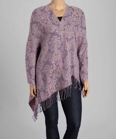 Loving this Purple & Lavender Damask Shawl - Women & Plus on #zulily! #zulilyfinds