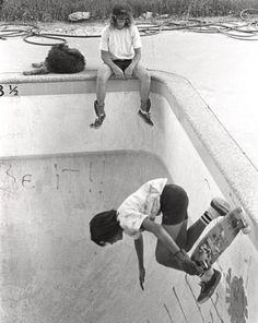 Escola antiga do skate.