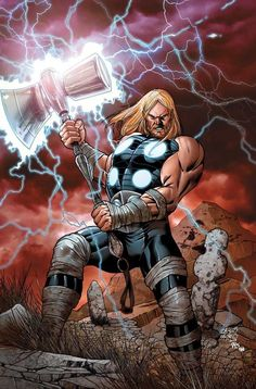 Exploding from the pages of the Ultimates, comes Ultimate Thor! Ultimate Marvel Don't miss the superstar team-up of JONATHAN HICKMAN and CARLOS PACHECO as they go back to the beginning and tell the origin of Thor, Loki and the rest of Asgard! Marvel Comics, Odin Marvel, Marvel Dc, Thor 1, Marvel Heroes, Thor Norse, The Avengers, Comic Books Art, Comic Art