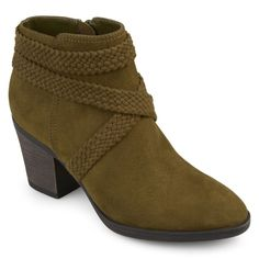 Journee Collection Senica Women's Ankle Boots, Size: medium (8.5), Dark Green