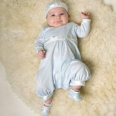 Infant Boy Jumpsuit - Beau Christening/Baptism Collection - Designer Gowns & Jumpsuits