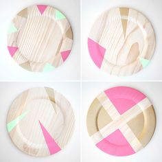 Follow this tutorial to make modern geometric chargers.