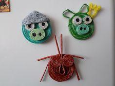 Angry Birds után szabadon... :)) Papírfonással saját munka - paper weaving, my own work