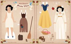 Disney Paper Dolls | Just Lia