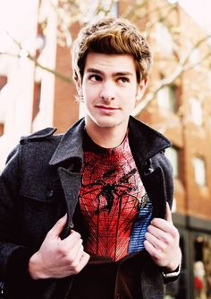 Andrew Garfield in The Amazing Spiderman! Can't wait <3