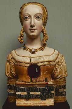 Святая Кристина, Santa Cristina (Espagne, ca. 1500, Musée Pouchkine, Moscou)