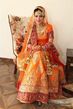 @nivetas Indian Bridal Wear, Indian Wedding Outfits, Sikh Wedding, Punjabi Wedding, Sikh Bride, Punjabi Bride, Bridal Looks, Bridal Style, Lehnga Dress
