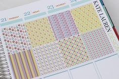 Full Box Easter Planner Stickers for Erin Condren Planner Easter Stickers Easter Full Boxes