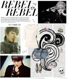 """Woo Jiho"" by music-fashion-art-love ❤ liked on Polyvore"