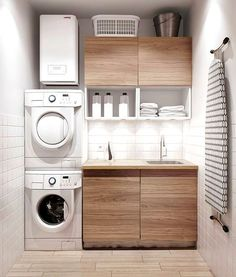 Best 20 Laundry Room Makeovers - Organization and Home Decor Laundry room decor Small laundry room organization Laundry closet ideas Laundry room storage Stackable washer dryer laundry room Small laundry room makeover A Budget Sink Load Clothes Modern Laundry Rooms, Laundry In Bathroom, Basement Laundry, Laundry Area, Bathroom Small, Bathroom Modern, Laundry Room Small Ideas, Kitchen Ideas Small Budget, Ideas For Small Homes