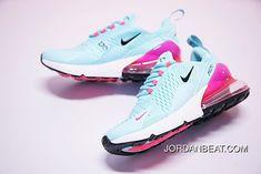 d62fd459aaf Wmns Nike Air Max 270 Blue Pink Grade School Best