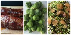 Classic Char Siu Pork + Chopped Brussels Sprout Salad with Grapefruit