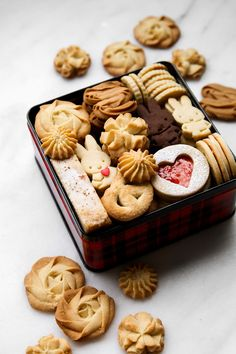 If you asked me what is the one thing I love baking and photographing more than anything else I would not even hesitate for a moment to t. Bakery Recipes, Cookie Recipes, Christmas Sugar Cookies, Christmas Cookie Boxes, Japanese Cookies, Buttery Cookies, Cookie Packaging, Think Food, Cookie Gifts