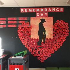 ideas for cascading poppies Remembrance Day Art, School Classroom, Classroom Ideas, Anzac Day, School Decorations, Library Displays, Poppy, Art For Kids, Care Homes