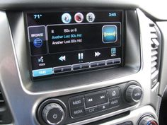 """AM/FM CD with Satellite Radio, 8"""" Touch Screen, Bose Premium Sound . . . 2015 Chevy Tahoe, 80s Hits, Bose, Touch"""