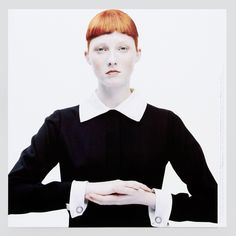 Maggie Rizer vestindo Yves Saint Laurent, clicada por François Nars pra Visionaire #25