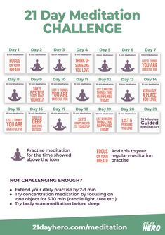 21 Day Meditation Challenge Daily Plan Want to try meditation but don't know where to start? Learn about meditation techniques and start with this Meditation Challenge Plan. Yoga Meditation, Atem Meditation, Meditation Benefits, Meditation Space, Meditation Quotes, Healing Meditation, Meditation Practices, Yoga Day Quotes, Mindfullness Meditation