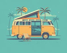 Explorers Club: Laguna by DKNG #flat #illustration