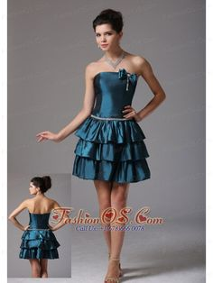 Custom Made A-line Ruffled Layeres Prom Cocktail Dress With Bow Beading In Georgia- $106.49  http://www.fashionos.com  : prom dress online shop | sleeveless prom dress | ready to ship prom dress | spring collection | prom dress for christmas | websites for prom dresses | prom dress for premiere prom | formal prom dress | winter collection | prom dress with lace up back |