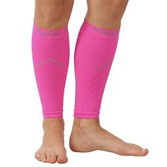 Zensah Reflective Compression Leg Sleeves - Best Night Running Gear - Relieve Shin Splints - Calf Sleeves for Running - Improve Visibility,XS/S,Neon Pink