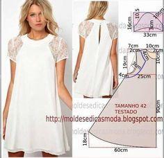 Ideas For Sewing Diy Dress Simple Diy Clothing, Sewing Clothes, Dress Sewing Patterns, Clothing Patterns, Pattern Sewing, Robe Diy, Diy Vetement, Diy Dress, Dressmaking