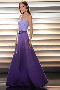 Pretty A-line Strapless Floor-length Prom/Bridesmaid Dress 10521506 - Bridesmaid Dresses 2014 - Dresswe.Com