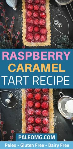 Are you looking for an easy raspberry dessert recipe? If so, you have to check out this paleo raspberry caramel tart that is absolutely AMAZING! It tastes even better than it looks if you can imagine that! Come check it out and save it to your Raspberry dessert board so you can find it later. #dessert #paleo #paleodessert Rib Recipes, Gluten Free Recipes, Healthy Recipes, Paleo Dessert, Dessert Recipes, Healthy Sweets, Healthy Eating, Raspberry Desserts, Caramel Tart