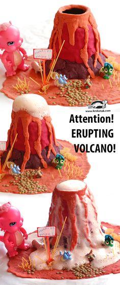 Attention! ERUPTING VOLCANO!