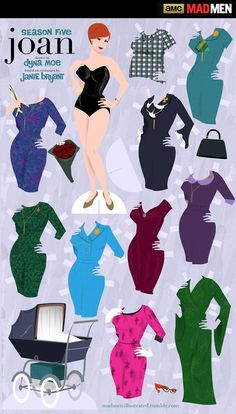 'Mad Men' Downloadable Paper Dolls: Joan Holloway