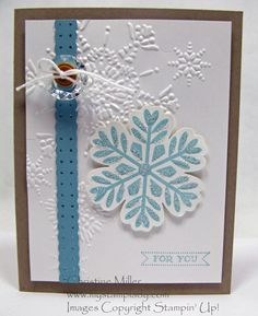 Sparkle Snowflake by cmstamps - Cards and Paper Crafts at Splitcoaststampers