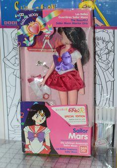 Sailor Mars Doll Sailor Moon R Special Edition Bandai Asia 1992 #Bandai #DollswithClothingAccessories