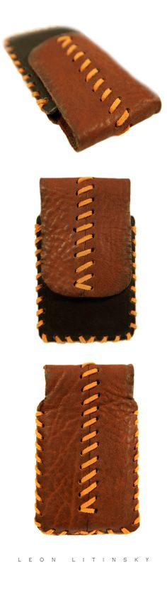 Bison Leather iPhone Case by Leon Litinsky.